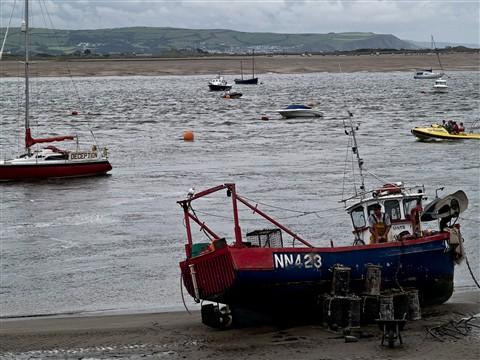Fishing boat barmouth wales