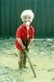 This is my youngest son, 28 years ago, enjoying mud. He always had two dummies, in case one gets dirty.