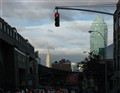 Empire State Bldg from stop light
