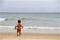 Helena on Ingleses beach - Floripa - Brazil