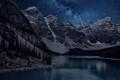 Moraine Lake At Night