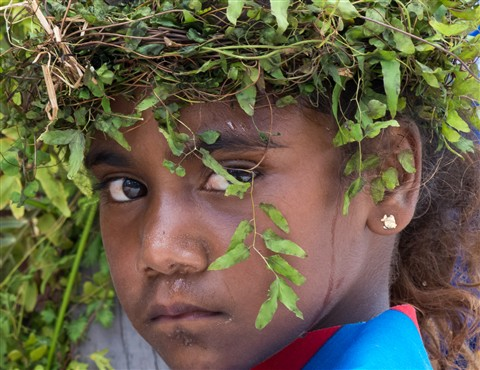 School Girl, Island of Mare, New Caledonia