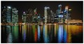 Singapore City Night Scenery