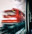 Photograph was taken near Berlin from my train seat as a train was speeding past my window.