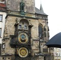 Famous Astronomical Clock in Old Town Prague CZ