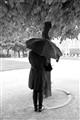 rain in Place de Vosges