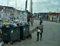 Garbage awaiting collection - Luanda, Angola