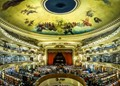 The Grand Splendid / Ateneo is a library in Buenos Aires. It is a restored theater and has maintained its wonderful fresco