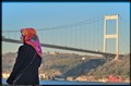 Turkish Woman At The Bosphorus Bridge