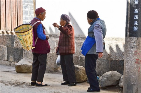 Big conversation at Dali - Yunnan