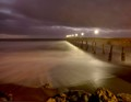 Pacifica Municipal Pier During Storm Showers