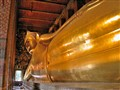 The resting Buddha in Bangkok, Thailand