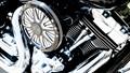 Shiny Harley engine
