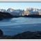 Black lake in winter