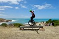 """I'ts my favorite ride. This is a 29"""" Unicycle, & I love to go mounting-muni cycling + doing the odd stunt or two :)"""