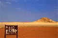 """no entry"" in the desert..."