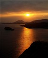 Sunset at Cape Sounio, Greece (View from the Temple of Poseidon)