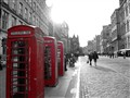 3 phone booths Royal Mile, Edinburgh