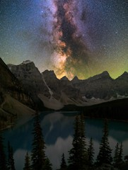 Milky Way over Lake Moraine, Banff National Park