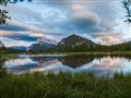vermillion lakes in a vine frame
