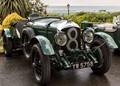 Bentley Vintage Racing car at Hunstanton.