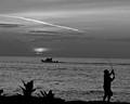A Cast a Cruise a Sail Into A Kaleidoscope Sunset BW Resized