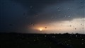 rain drops sunset