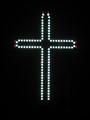 The Millennium Cross by night