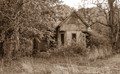 Old house in Parke County Indiana which seemed like a natural subject for a sepia treatment.