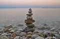 pebble tower a little after sunset