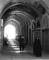 walking in the shadow of a market in Yadz, Iran