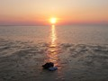 Sunset over Cape Cod bay-1