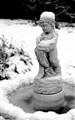 cherub in the snow