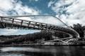 The Zubizuri bridge designed by Santiago Calatrava in Bilbao, Spain.
