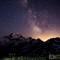 Perseid Meteor shower over Mt. Baker