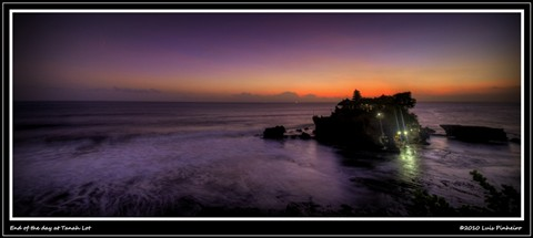 End of the day at Tanah Lot