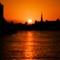 Off focus sunset
