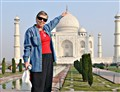 Roz holding Taj Mahal