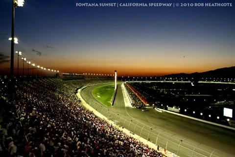NASCAR Fontana Sunset