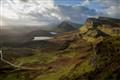 Sheep grazing on the Isle of Skye Jurassic landscape.