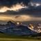Mountain light at sunset
