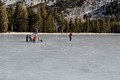 Tenaya Lake skaters