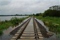 Flooded Railroad Track