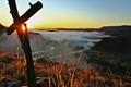Sunrise Above Misty Valley