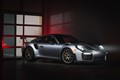 Just some light painting of a 911 GT2RS behind a garage door.
