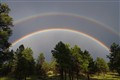 Flagstaff Summer Storm Double Rainbow