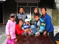 A Nepali family in Chame village, Nepal