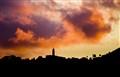 Sunset over Igreja de São Martinho