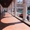 portico on one side of Santiago's Parque Cespedes