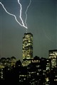 world trade center lightning strike